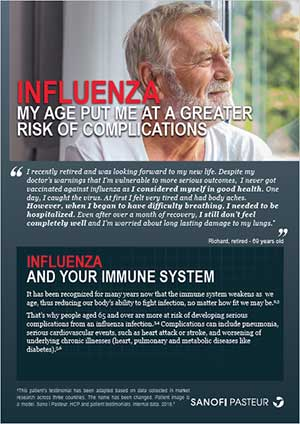 Influenza – My Age Put Me at a Greater Risk of Complications