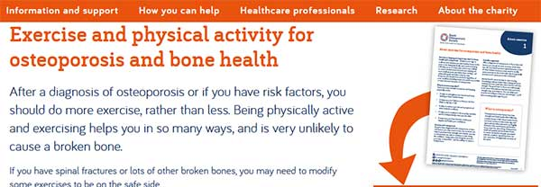 Exercise and physical activity for osteoporosis and bone health