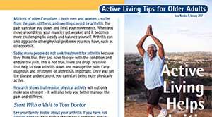 Active Living Tips - Arthritis
