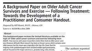 A Background Paper on Older Adult Cancer Survivors and Exercise