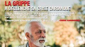 LA GRIPPE A DÉCLENCHÉ SA CRISE CARDIAQUE
