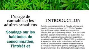 L'usage de cannabis et les adultes canadiens