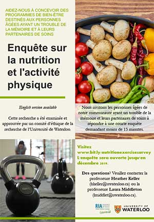 Enquête sur la nutrition et l'activité physique